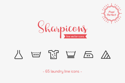 Laundry Line Icons - Sharpicons