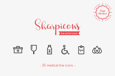 Medical Line Icons - Sharpicons