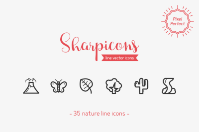 Nature Line Icons - Sharpicons