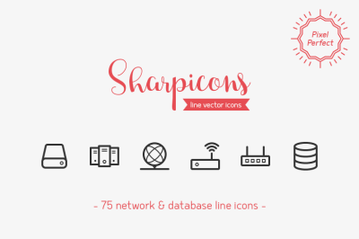 Network & Database Line Icons