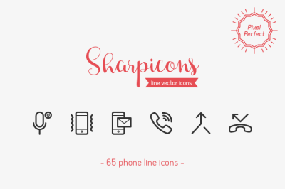Phone Line Icons - Sharpicons