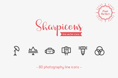 Photography Line Icons - Sharpicons