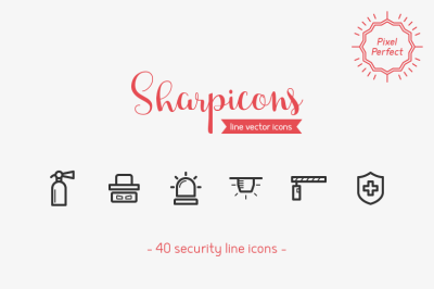 Security Line Icons - Sharpicons