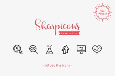 SEO Line Icons - Sharpicons