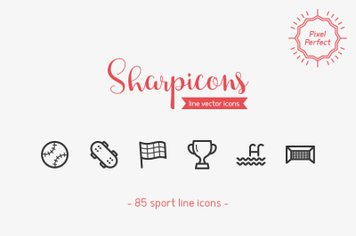 Sport Line Icons - Sharpicons