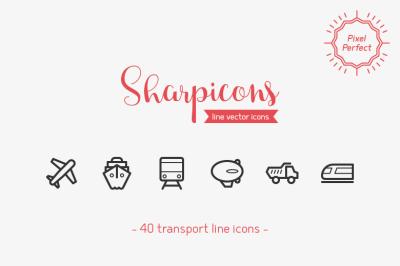 Transport Line Icons - Sharpicons