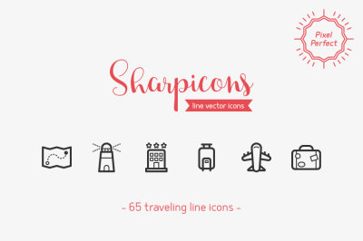 Traveling Line Icons - Sharpicons