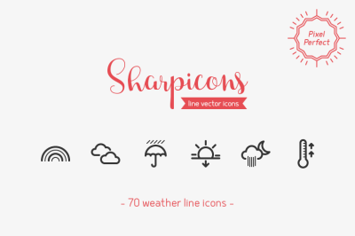 Weather Line Icons - Sharpicons