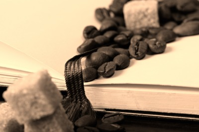 Coffee beans, paper
