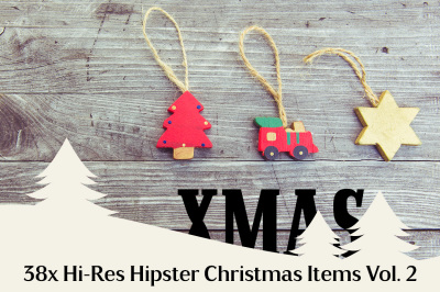 38x Hi-Res Hipster Xmas Items Vol. 2