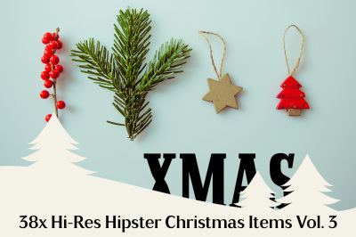 38x Hi-Res Hipster Xmas Items Vol. 3