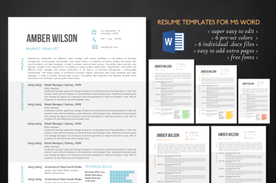Modern 3 in 1 resume template