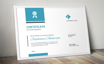 Modern corporate certificate template for MS Word