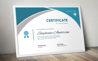 Corporate certificate template for MS Word