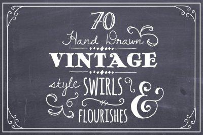 Hand Drawn Swirls & Flourishes