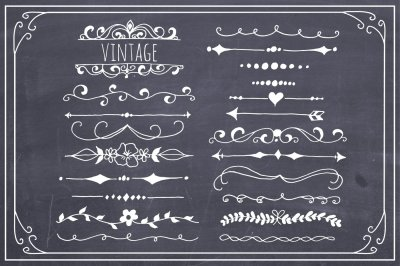 Hand Drawn Text Dividers - Vector