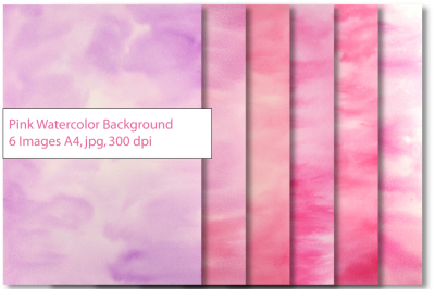 Pink Purple Watercolor background Texture