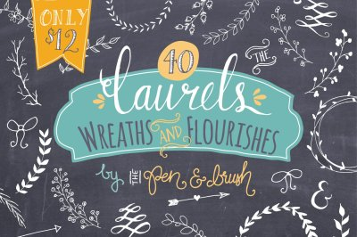 Laurels & Wreaths - Vector