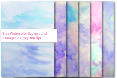 Watercolor Blue background Texture
