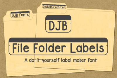 DJB File Folder Labels Font