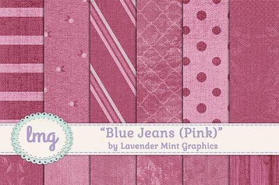 Pink Denim Digital Scrapbook Paper