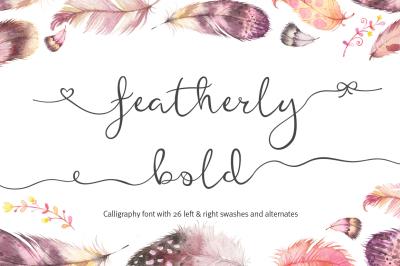 Featherly Bold - wedding font