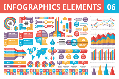 Infographics Elements in Flat Style