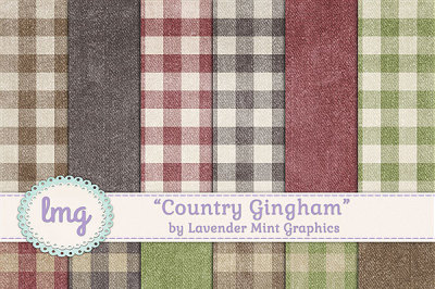Country Gingham Digital Paper