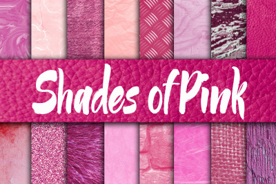 Shades of Pink Digital Paper Textures