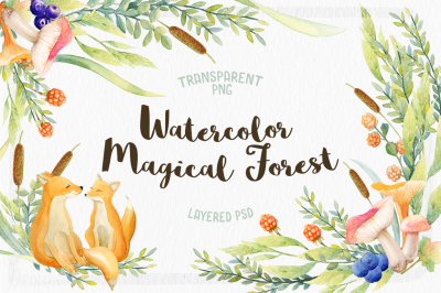 Watercolor Magical Forest