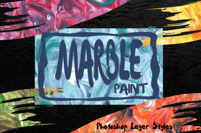 Marble Paint Styles for Photoshop