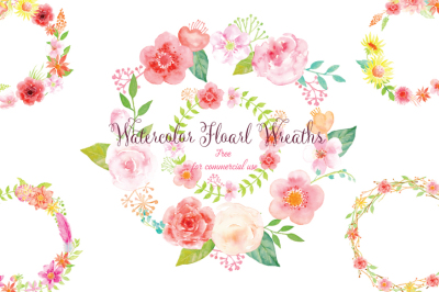 Floral Wreath Watercolor