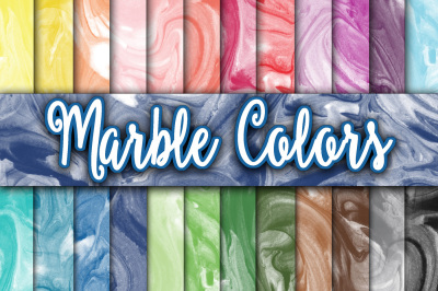 Marble Colors Digital Paper Textures
