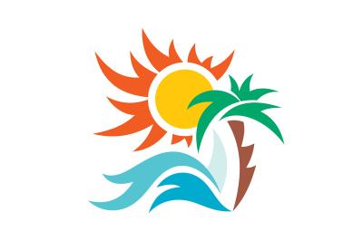 Summer Vacation Travel Sun Sea Palm