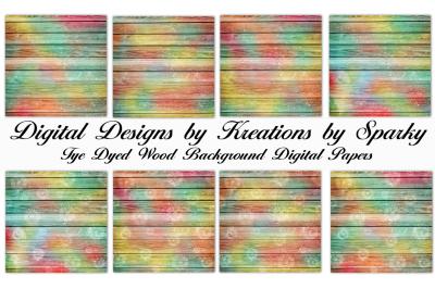 Tye Dyed Wood Digital Papers
