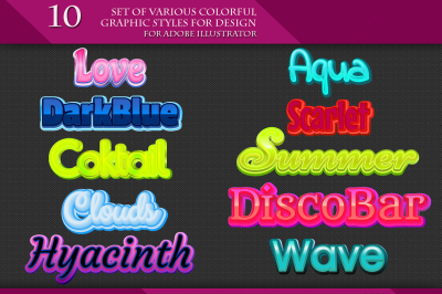 Set of Various Colorful Styles for Design