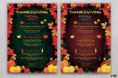 Thanksgiving Menu Template V1