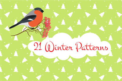 21 Winter Seamless Patterns