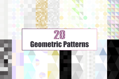 20 Glitter and Geometric patterns