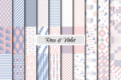 Rose Quartz & Serenity Patterns