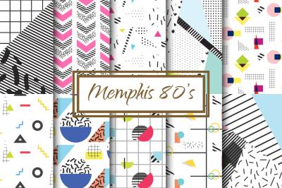 Memphis 80's Retro Backgrounds