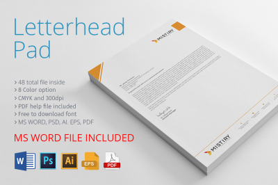 Letterhead Pad & MS Word