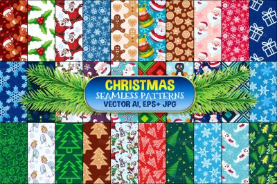 Christmas Seamless Pattern Set 1
