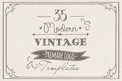 35 Hand Drawn Logos Bundle - Vector