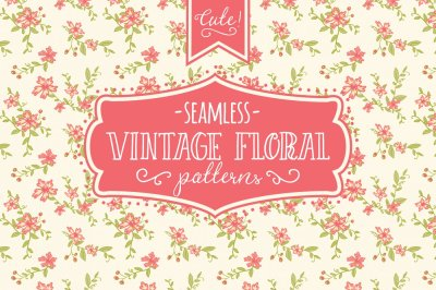 Seamless Vintage Floral Patterns