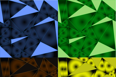 background image gradient, triangles and lines, four files a JPEG for printing, and EPS