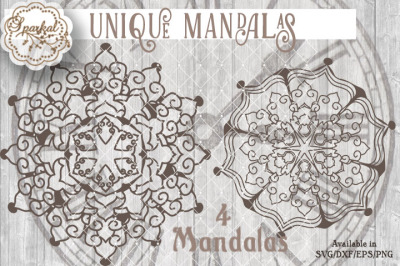Set of 4 Mandalas - Cutting Files