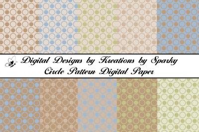 Circle Pattern Digital Paper