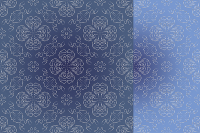 Abstract images of flowers, seamless background,set of two shades