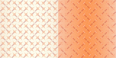Abstract images, geometric figures, seamless pattern, set of two shades